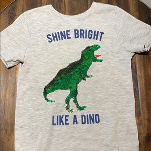 Shine Bright Like a Dino color change sequins t
